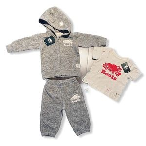 ROOTS- Baby Sweatsuit & T-shirt (3-6m) BUNDLE- NWT